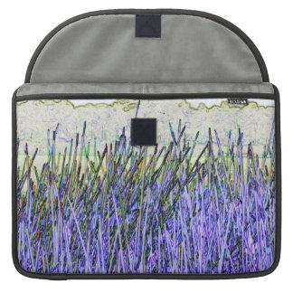Cañas abstractas en colores púrpuras y blancos funda para macbooks