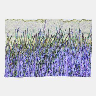 Cañas abstractas en colores púrpuras y blancos toallas