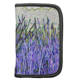 Cañas abstractas en colores púrpuras y blancos planificador