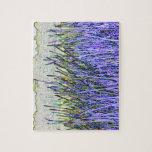 Cañas abstractas en colores púrpuras y blancos puzzles con fotos