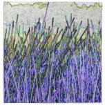 Cañas abstractas en colores púrpuras y blancos servilletas