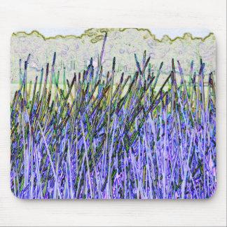 Cañas abstractas en colores púrpuras y blancos alfombrillas de ratones