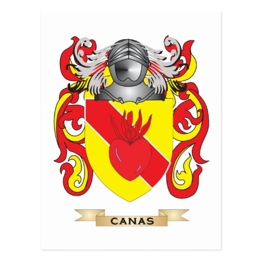 Canas Coat of Arms (Family Crest) Postcard