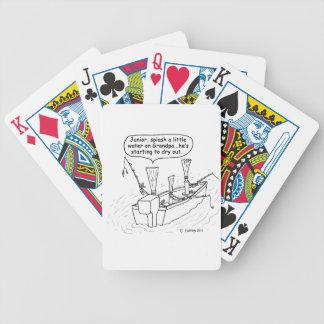 Cañas de la pesca baraja de cartas