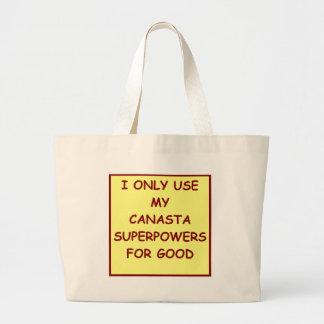 canasta bolsas lienzo