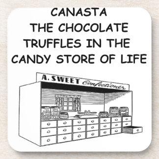 canasta drink coaster