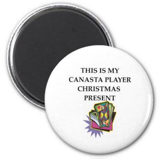 canasta gift 2 inch round magnet