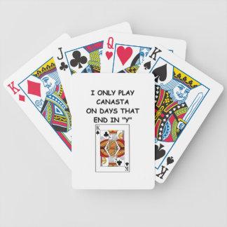 canasta joke 10 bicycle poker cards