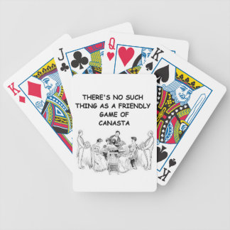 canasta joke 11 bicycle poker deck