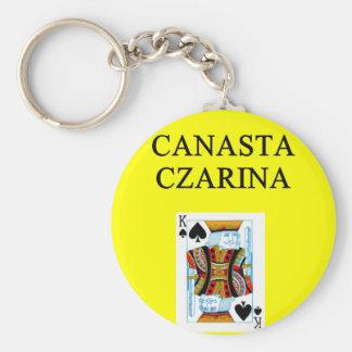 CANASTA joke Basic Round Button Keychain