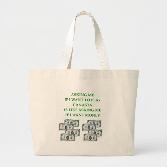 canasta large tote bag