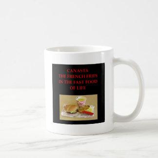 canasta basic white mug