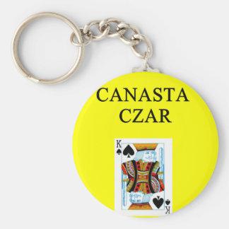 CANASTA player Basic Round Button Keychain
