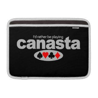 Canasta Player custom iPad / laptop sleeve Sleeve For MacBook Air