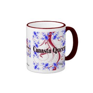 Canasta Queen 4 Coffee Mugs