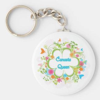 Canasta Queen Key Chain