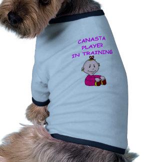 canasta camiseta de perro