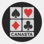 Canasta stickers