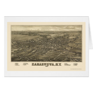 Canastota, NY Panoramic Map - 1885 Card