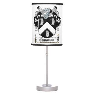 Canavan Family Crest Table Lamps