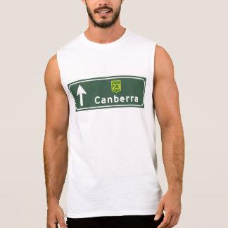 Canberra, Australia Road Sign Sleeveless Shirts