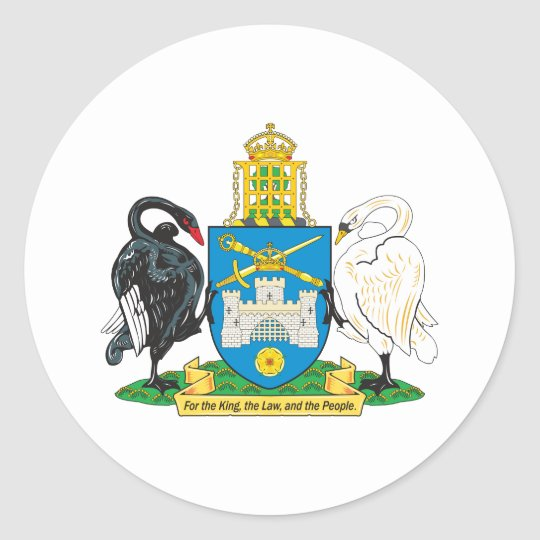 Canberra Coat Of Arms Classic Round Sticker