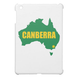 Canberra Green and Gold Map iPad Mini Cases