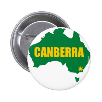 Canberra Green and Gold Map Pinback Button