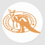Canberra Stamp Classic Round Sticker