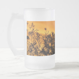Canberra Summer Sunset Frosted Glass Beer Mug