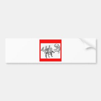 cancan pegatina de parachoque