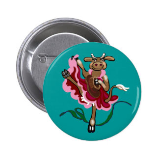 Cancan cowgirl button