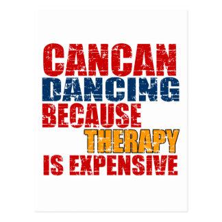 Cancan Dance Designs Postcard
