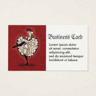 Cancan Dancer Business Card