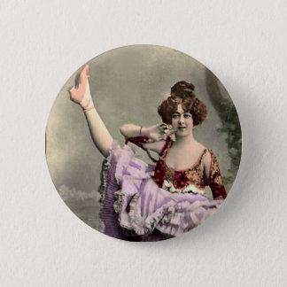 Cancan Dancer Button