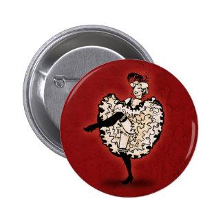 Cancan Dancer Buttons