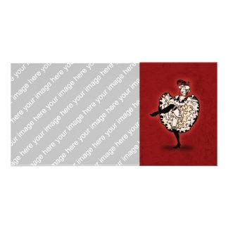 Cancan Dancer Card