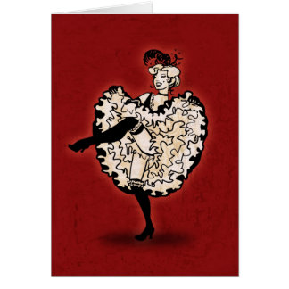 Cancan Dancer Greeting Cards