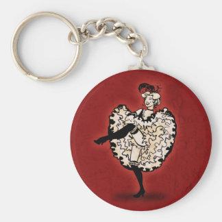 Cancan Dancer Keychain