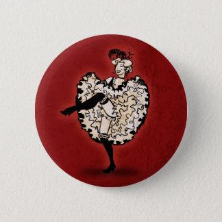 Cancan Dancer Pinback Button