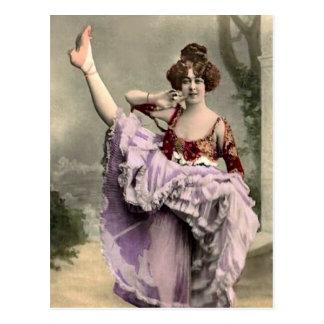 Cancan Dancer Postcard