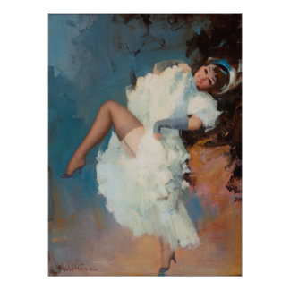 Cancan Dancer Poster