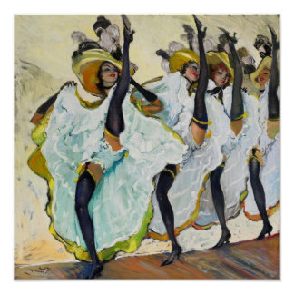 Cancan Dancers 1 Poster