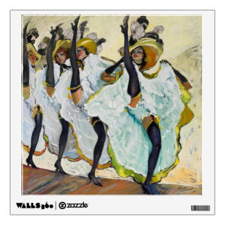Cancan Dancers 1 Wall Decals