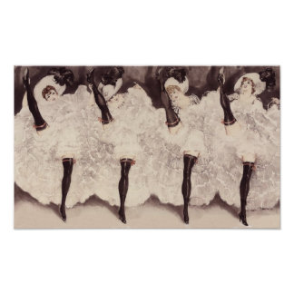 Cancan Dancers 2 Poster