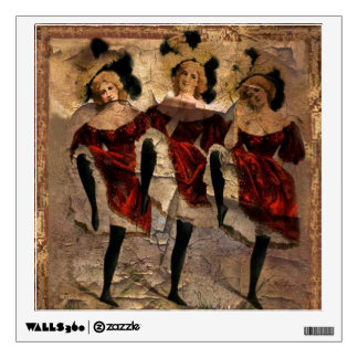 Cancan Dancers 3 Wall Decals
