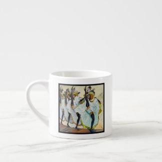 Cancan Dancers Espresso Cup