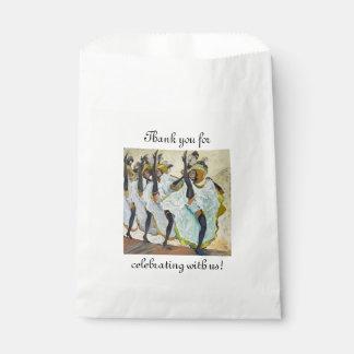 Cancan Dancers Favor Bag