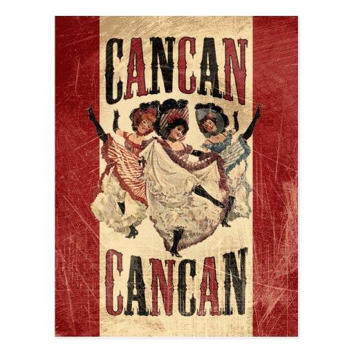 Cancan Dancers Postcard