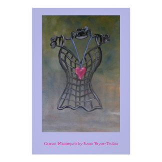 Cancan Mannequin Poster